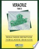 Veracruz. Conteo de Población y Vivienda, 1995. Resultados definitivos. Tabulados básicos. Tomo III