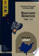 VI censo de población y V de vivienda, 2001: Provincia de Cañar (2 v.)