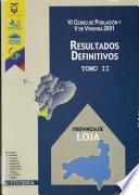 VI censo de población y V de vivienda, 2001: Provincia de Pichincha
