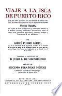 Viaje a la isla de Puerto Rico en el año 1797