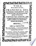 Vida de la sierva de Dios Francisca del Ssmo. Sacramento,Carmelita descalza