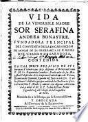 Vida de la venerable Madre Sor Serafina Andrea Bonastre,Carmelita