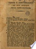 Visita y conversación de Don Quixote con el padre Matusalen