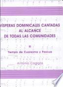 Vísperas dominicales cantadas al alcance de todas las comunidades