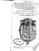 Vniversal metodo de construcion y ramillete de flores latinas y castellanas