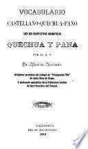 Vocabulario castellano-quechua-pano