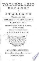 Vocabulario español e italiano, 2
