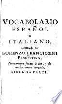 Vocabulario italiano, e spagnuolo ...