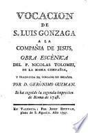 Vocacion de S. Luis Gonzaga a la compañia de Jesus
