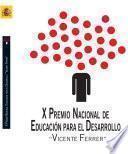 X Premio nacional de educación para el desarrollo Vicente Ferrer