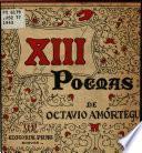 XIII poemas de Octavio Amórtegui